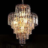 lustre de cristal real venda por atacado-Atacado-Luxo Real Ouro Cristal K9 Candelabro Lustre De Cristal De Ouro Lustres Salão Sala de Iluminação Decoração De Casamento
