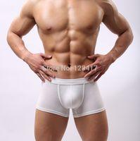 Wholesale Best Men Cotton Boxers - Wholesale-Free Shipping High Quality Modal Mens Underwear Man Penis Pouch Boxers Underware Solid Designer Best Price 6Colors(2pcs lot)