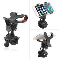 Wholesale gps plastics for sale - Group buy Universal Motorcycle MTB Bike Bicycle phone holder Handlebar Mount Holder for Ipod Cell Phone GPS