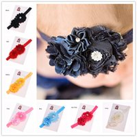 Cheap Tiaras Cute Shabby Flower Best Cotton Solid Headband Baby Girl