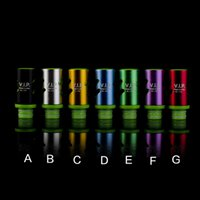 Wholesale vip drip tip resale online - Newest Adjustable Airflow Drip Tips EGO Vaporizer Mouthpiece for RDA RBA Atomizers Mods E Cig VIP Wide Bore Drip Tips