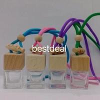 bouteille vide de parfum achat en gros de-6ML transparent bouteilles Quartet pendentif en verre suspendu voiture bouteille de parfum pendentif vide voiture parfum bouteille recharge de voiture parfums