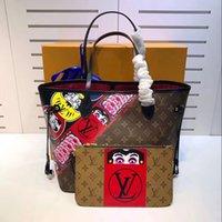 Wholesale Cartoons Shopping Bags - 2017 new style designer handbag high-end quality embossed fashion women bag chain bag brand designer shopping package M43499