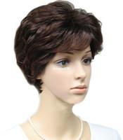 kadın perukları toptan satış-Cool2day Womens Güzel Benzersiz Tasarım Saç Kabarık Tarzı Kısa Peruk JF011089
