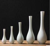 Wholesale Ceramic Bottle Vase - Custom jingdezhen handmade jade porcelain flower vase guanyin bottle tea table flower vase can be custom text