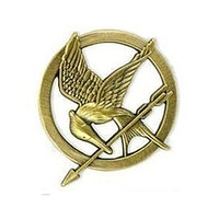 Wholesale Hunger Games Figures - Free Shipping ! Wholesale Beautiful Prety Hot Movie The Hunger Games Antique Bronze Plated Mockingjay Pin Brooch