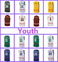 Wholesale Popular S - Wholesale Youth 2017-18 New jerseys James Irving Ball Kuzma Antetokounmpo Wade Tatum Embroidery Very popular Kids jersey