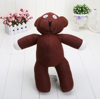 mr bean teddy bear figure achat en gros de-2pcs / lot 35cm Mr Bean Teddy Bear Animal Stuffed Peluche Toy Brown Figure Doll Child Xmas Gift