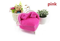 Wholesale Cute Boxes For Jewelry - Free Shipping 2015 Latest Cute Sofa Model Storage Box for Jewelry,2 Color Mini Jewelry Box Organizer Box for Girl Birthday Gift