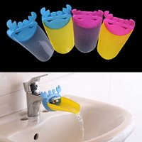Wholesale Sink Faucet Pink - Cute Bathroom Sink Faucet Chute Extender Crab Children Kids Washing Hands Blue Yellow Pink