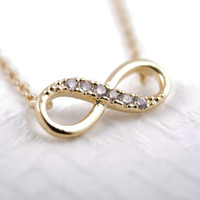 Wholesale Infinity Necklaces For Women - 2016 Fashion 18k Gold silver plated Tiny Infinity Necklace Pendant Necklace for women gift Free Shipping Wholesale