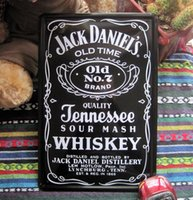 Wholesale Paiting Signed - Jack deniel's old no 7 paiting Tin Sign Bar pub home Wall Decor Retro Metal Art Poster F-20 20*30 CM Free Shipping