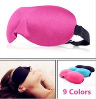 Wholesale eye patches for sleeping - Hot High Quality Travel Sleep Rest 3D Sponge Eye Shade Sleeping Eye Masks Cover Nap Rest Patch Blinder for health care free DHL
