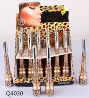Wholesale Pens Shells - 7 styles Leopard Shell Liquid Eyeliner Pen Pencil 2 in 1 Fast Dry Definite Waterproof Amazing DHL free