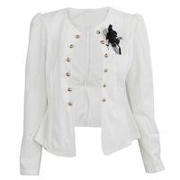 Wholesale three quarter sleeve suit jacket - Hot Sale Female short design slim suit blazer elegant three quarter sleeve thin outerwear women casual summer jacket