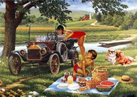 Wholesale Lovers Cats - New diy diamond painting cross stitch kits resin pasted painting full round drill needlework Mosaic Home Decor cartoon lover cat dog yx1471