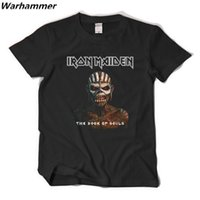 2017 Rock Band T-Shirts Black IRON MAIDEN World Book Of Souls Tour Dates Nuevo Mens Camiseta de Manga Corta Personalizada Camiseta de Algodón Homme XXL
