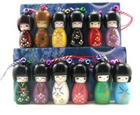 Wholesale Biggest Mobile Phone Wholesalers - Wholesale-LOT 100 Biggest KOKESHI Doll Mobile Phone charms Mobile phone accessories+Free Shipping