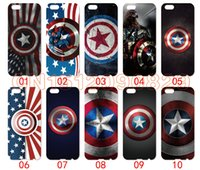 Wholesale S3 Captain America - Captain America Logo For iPhone 6 6S 7 Plus SE 5 5S 5C 4S iPod Touch 5 For Samsung Galaxy S6 Edge S5 S4 S3 mini Note 5 4 3 phone cases