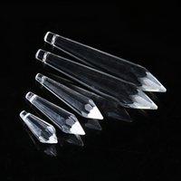 lustre cristal lâmpada partes venda por atacado-30 PCS K9 Candelabros de Cristal De Vidro Da Lâmpada Parte Prismas Pendurado Gota Pingentes de Decoração Para Casa 38mm 55mm 63mm 76mm W049