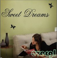 Sweet Dreams Butterfly Recados Citar decalques etiqueta vinil removível Home Decor