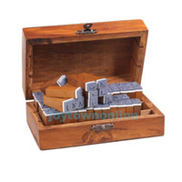 Wholesale Stamps Wood Box - Wholesale-70pcs Upright Type Alphabet Number Symbol Retro Rubber Stamps with Wood Box #1JT