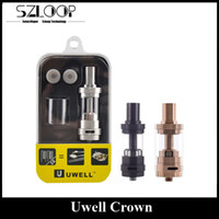Wholesale Color Crowns - Authentic Uwell Crown TC Atomizer Rose Gold 4ml Top Refilling Sub Ohm Tank Huge Vapor Black SS Color