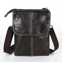 Wholesale Cigarette Pillow - Wholesale- Promotion genuine leather mini men messenger bags cowhide small men bag crossbody mobile phone waist bag cigarette bag #VP-M009