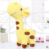 Gros-2015 Hot 45cm Giraffe Toy Cloth Doll Pure Cotton Peluche cerf sika animal Cartoon Loisirs Stuffed anniversaire de mariage TY125 cadeau