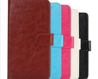 Wholesale Lenovo Inch Case - New 360 Rotating Universal PU Wallet Leather Case Cover For 3.8 4.3 4.8 5.5 6.3 Inch Etc Phone Lenovo Samsung LG HTC Nokia