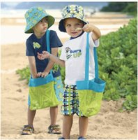Wholesale Beach Baby Bedding - 2015 Vogue Mesh Tote Bag Clothes Toys Carry All Sand Away Beach Bag Baby Toy Collection Bag Free Shipping 100 pcs