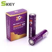Wholesale Icr Batteries - 100% authentic ZQ 18650 ICR 3.7V 2600mAh   3100mah Capacity 40A 20A 45A 30A Li-ion Rechargeable Battery vs Aspire 18650 26650 battery