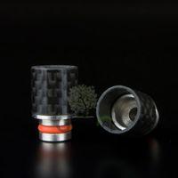Wholesale E Cigarette Fiber - Carbon Fiber Drip Tips Wide Bore drip tip 510 EGO Mouthpiece for CE4 CE5 Aerotank Genitank RBA RDA atomizer E Cigarette vs ATTY drip tips