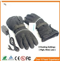 Wholesale Golf Leather Gloves For Men - Wholesale-NEW SAVIOR heated glove for Skiing, golf, fishing, riding, outdoor sporting, Genunie Leather warm glov
