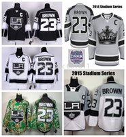 Wholesale Pas 23 - Factory Outlet, 2015 Los Angeles Kings Hockey Jerseys #23 Dustin Brown Jersey 2014 Stadium Series Home LA Dustin Brown Stitched Jerseys C Pa