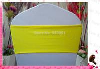 ingrosso sedie di banchetto giallo-Fasce dello Spandex di singolo strato di colore giallo limone all'ingrosso / fascia di Lycra / telai della copertura della sedia per la decorazione di banchetto della festa nuziale