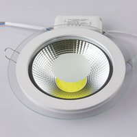 Wholesale Led Downlight Cover - Wholesale price COB 9W 15W 18W LED COB Panel Light AC90-260V Recessed COB Downlight Glass Cover LED Spot bulb