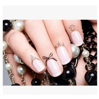 Wholesale Variety Nail Stickers - New Sexy Edge Nail Stickers of Women Finger Tattoo Stickers Variety of Styles Tattoo on Finger