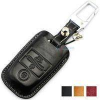 Wholesale Kia K3 Accessories - Muticolor Genuine Leather Car Key case fob cover for KIA K3 K3S K4 K5 KX3 SPORTAGE CARENS SHUMA SORENTO key wallet auto accessories