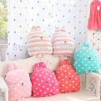 Wholesale Hand Warmer Pillow - supplier Polka Dot Striped Coral Fleece Flannel Blanket Rabbit Hand Warmer Free Shipping pillow pets for dogs
