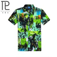 Wholesale Surf Clothes Shirt - Wholesale-summer casual beach men's clothing turn-down collar short-sleeve shirt surf beach shirts hot-selling Size increase