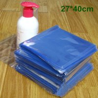 DHL 450pcs / Lot 27 * 40cm piatto trasparente in PVC termoretraibile Borsa Film plastico regalo cosmetica Wrap termorestringibile Packaging Pouch Poli sacchetto