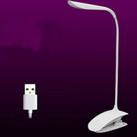 Wholesale 2015 Table Lamps NEW Adjustable USB Rechargeable LED Desk Table Lamp Reading Light Touch Switch