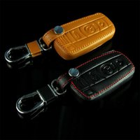Wholesale Bmw E36 Covers - New Leather Car Styling Key Cover With Buckle For BMW 3 5 6 7 series GT 520LI x3 x5 E36 E39 E46 Etc High quality Free Shipping