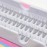 Wholesale 12mm Eyelash Individual - Wholesale-2016 1set =60pcs Individual Lashes Semi-Hand Made Black Natural Long Cluster Makeup Extension False Eyelash Set 8 10 12mm