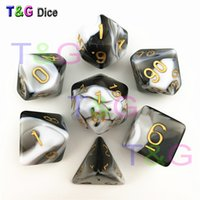 Wholesale dungeons dragons dice online - New Transparent Black White Color Dice D4 D20 For Dungeons And Dragons