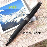 Wholesale Options Brand - New Luxury pens Matte Black Classique P163 Germany Brand roller ball pen   ballpoint pens option MB pen for writing gift