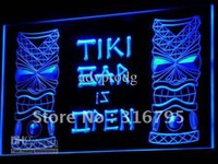 Wholesale Tiki Bar Open Signs - i573-b Tiki Bar is OPEN Mask Display NR Neon Light Sign