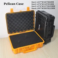 Wholesale tools box equipment - ABS Case VS Pelican Waterproof Safe Equipment Instrument Box Moistureproof Locking For Multi Tools Camera Laptop VS Ammo Aluminium