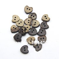 Wholesale Coconut Heart Buttons - 12mm 2 holes buttons coconut shell heart buttons wood cute buttons for craft buttons
